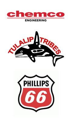 Chemco Engineering logo. Tulalip tribes logo. Phillips 66 logo.