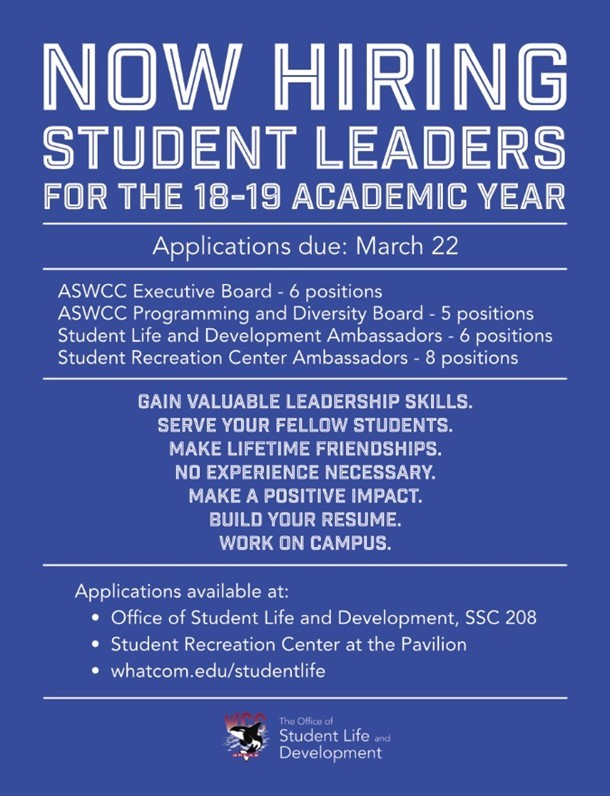 Now Hiring Student Leaders