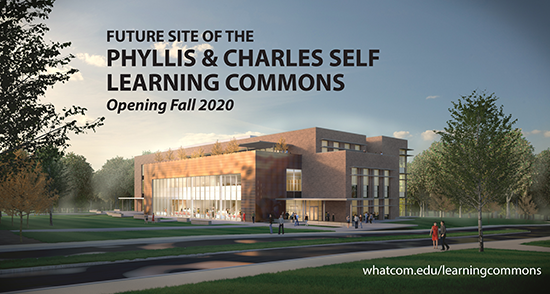 Learning Commons proposed site sign-opening 2020
