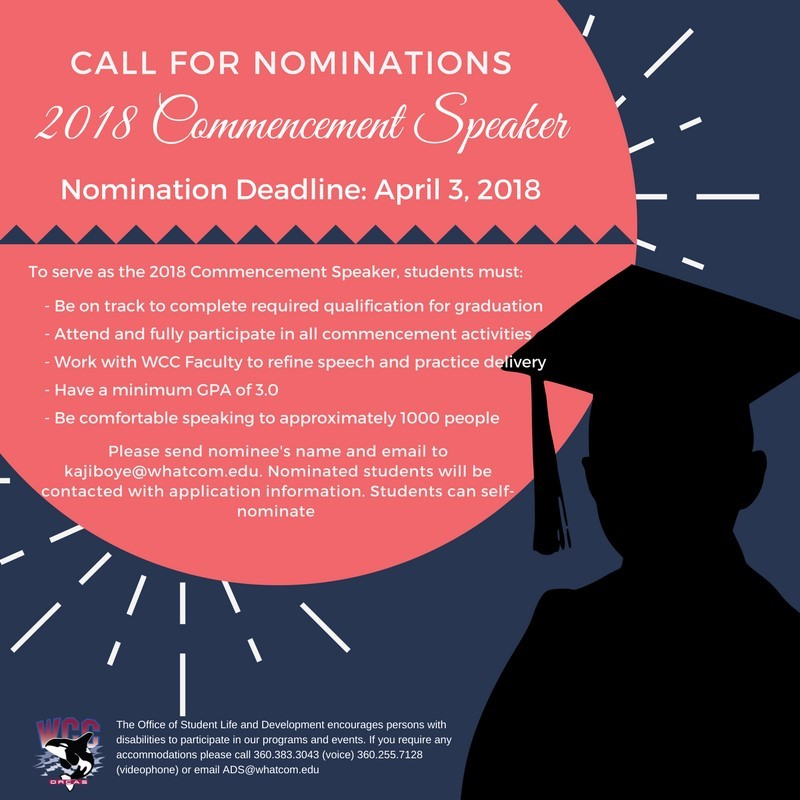 Commencement Speaker - call for nominations