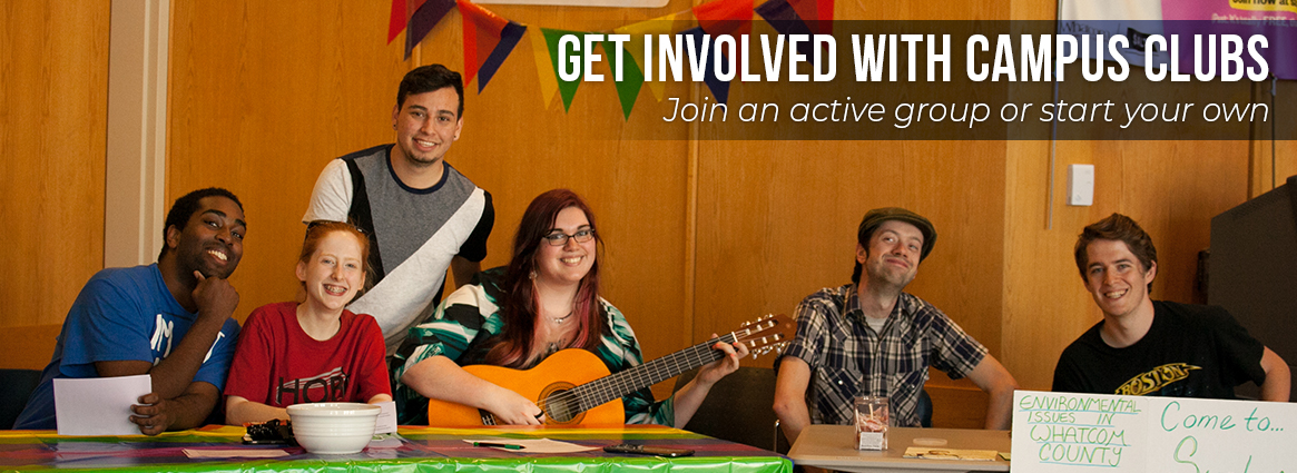 Get involved with campus clubs. Join an active group or start your own.