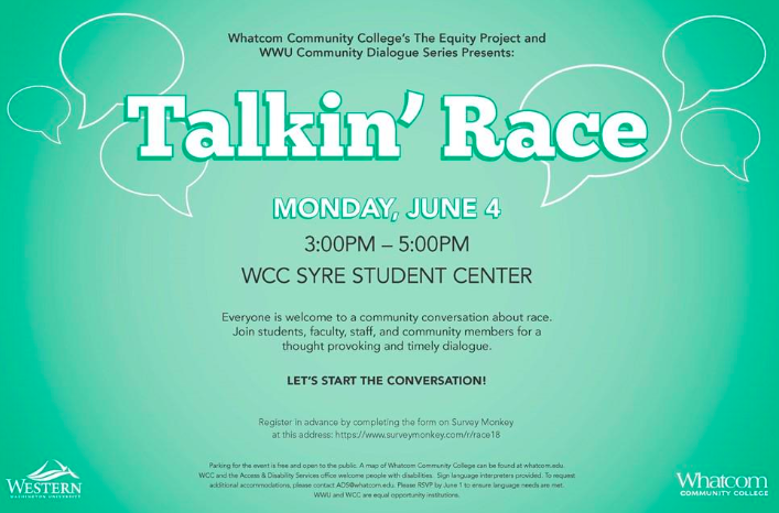 Talkin' Race poster. See article for more information about the event.