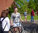 Students with bike