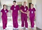 Nursing students walking in hall