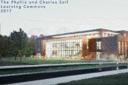Exterior Learning Commons rendering