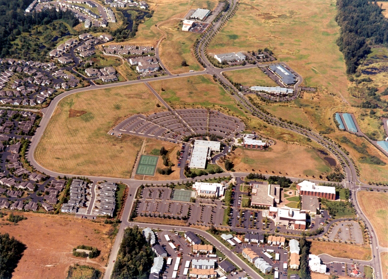 Aerial view of WCC campus, 2003