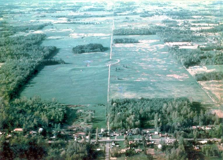 Aerial view of Wilder Ranch, future site of WCC's campus, 1970