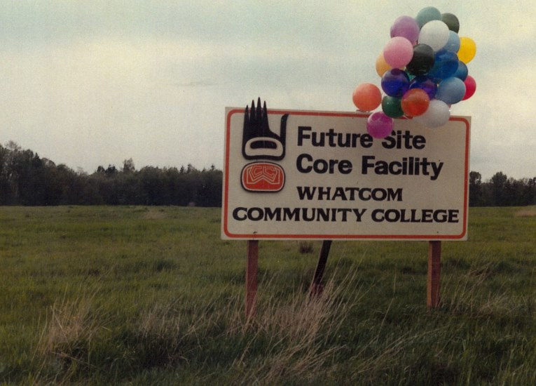 In April 1986 WCC held a groundbreaking ceremony for the College's new 'core facility,' future site of Laidlaw Center