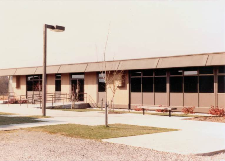 Pre-fabricated in Pasco in 26 pieces, the Northwest Service Center was the first building built specifically for WCC, 1973