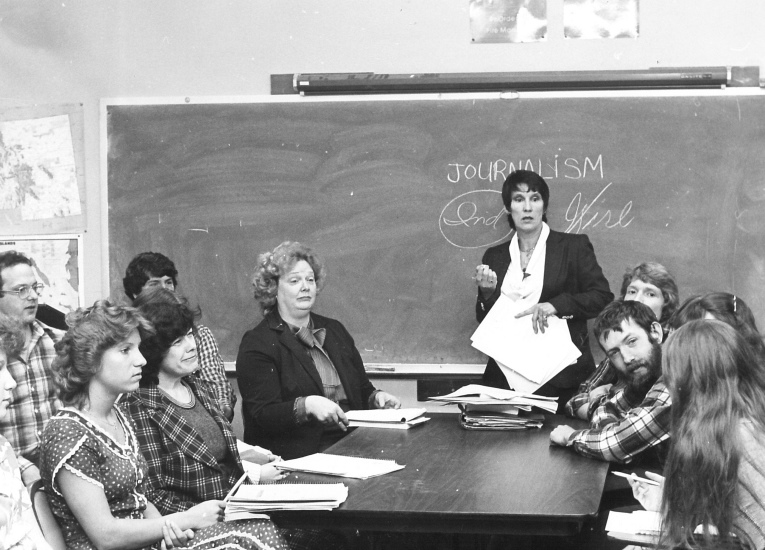 WCC journalism instructor Miki Gilliland was one of the College's first Horizon student newspaper editors, 1970s