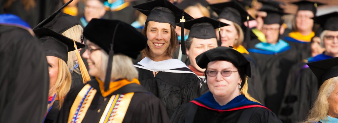 2 Faculty and staff at commencement