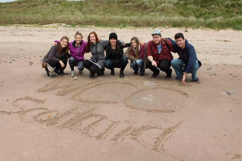 Scotland group WCC beach