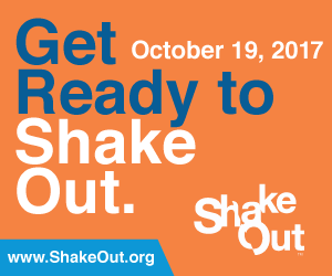 Get ready to shake out. Global shakeout drill. www.shakeout.org