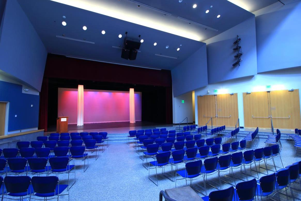 Syre Auditorium set for theater performance