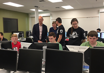 High school cyber camp with Rep. Larsen