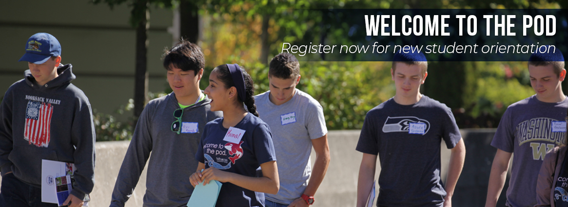 Welcome to the pod. Register now for new student orientation.