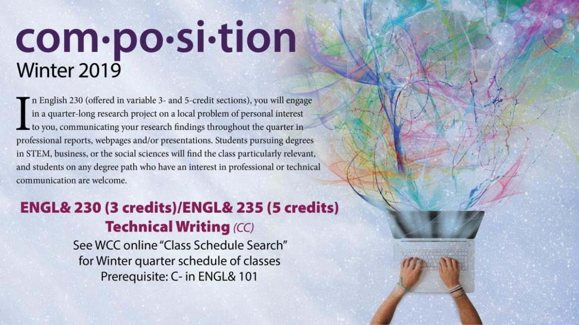 ENGL230-235 - Technical Writing