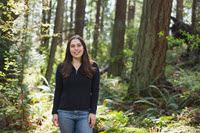 Pic of WCC Alum Andra in the Forest