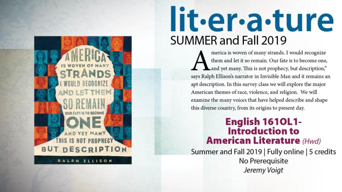 ENGL 161OL1 - Introduction to American Literature
