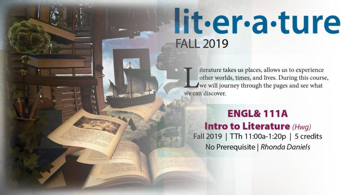 Fall 19 ENGL 111A - Introduction Literature