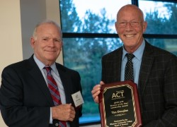 WCC Trustees John Pedlow and Tim Douglas holding an award