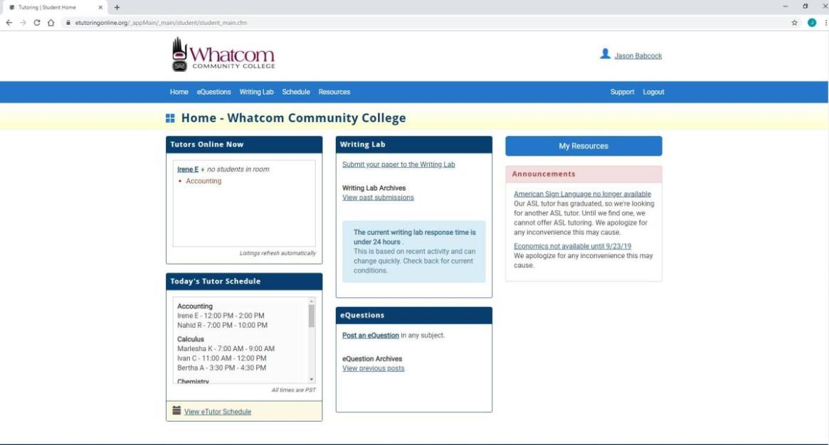 Online Tutoring | Whatcom Community College