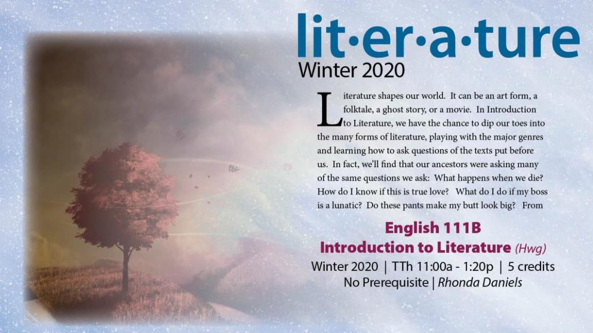ENGL 111B - Introduction to Literature