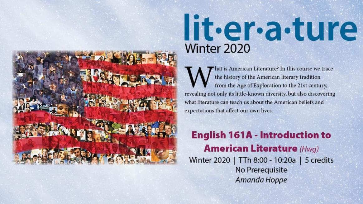 ENGL 161A - Introduction to American Literature