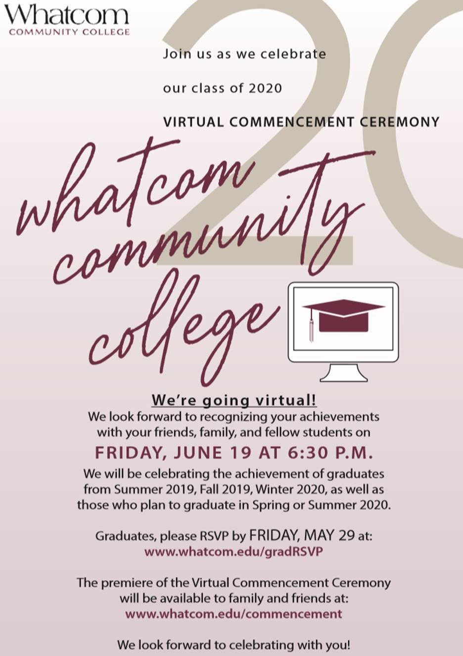 RSVP for Virtual Commencement