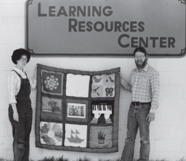 Laura McKenzie and Jim Dodd at the Learning Resources Center